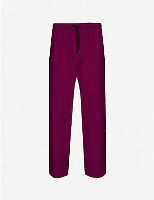 DEREK ROSE: Basel straight stretch-modal trousers