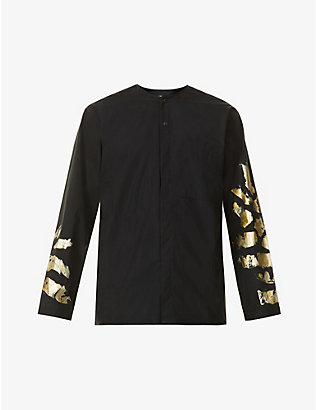 TOOGOOD: The Blacksmith screen-print regular-fit cotton-poplin shirt