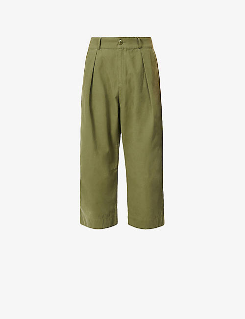 TOOGOOD: Tinker wide-leg cotton-drill trousers
