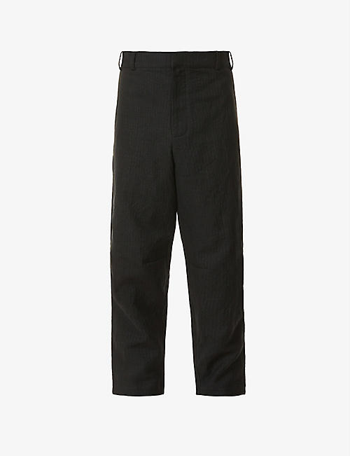 TOOGOOD: Engineer tapered wool and linen-blend trousers