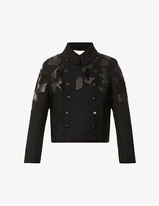 TOOGOOD: The Soldier double-breasted leaf-applique wool-blend jacket