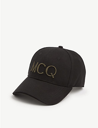 MCQ ALEXANDER MCQUEEN: Logo-embroidered cotton cap