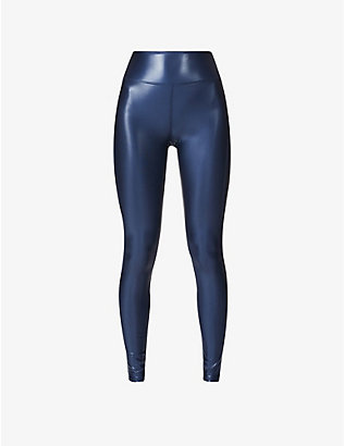 HEROINE SPORT: Barre metallic stretch-jersey leggings