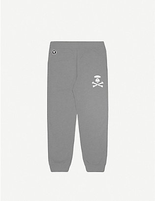 AAPE: Logo-print cotton-jersey jogging bottoms
