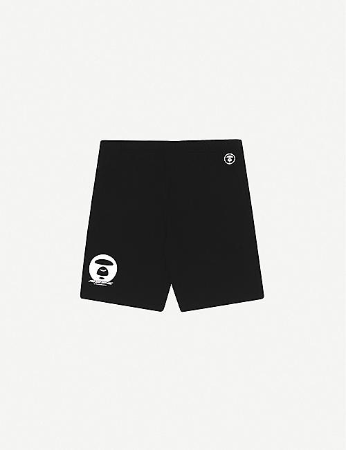 AAPE: Camouflage-panel cotton-jersey shorts