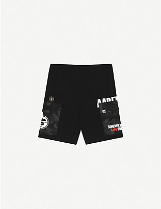 AAPE: Camouflage-pocket cotton-jersey shorts