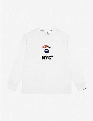 AAPE: Logo-print cotton-jersey top