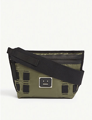 ACNE STUDIOS: Arvel logo-print nylon cross-body bag