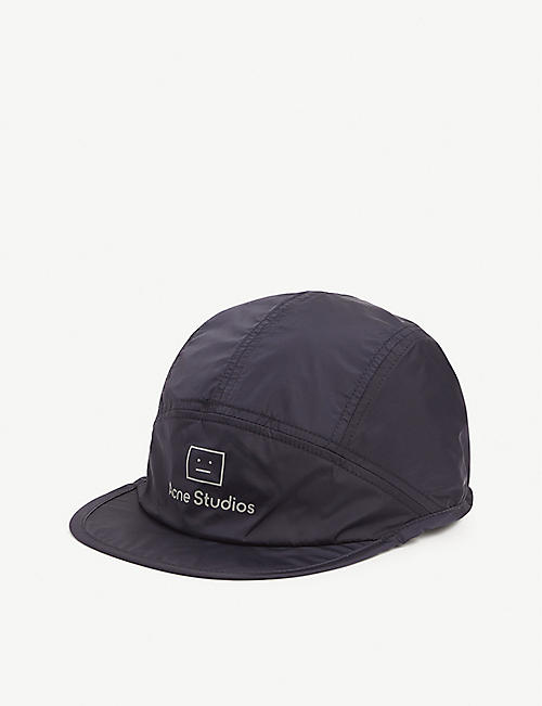 ACNE STUDIOS: Face logo-patch woven cap