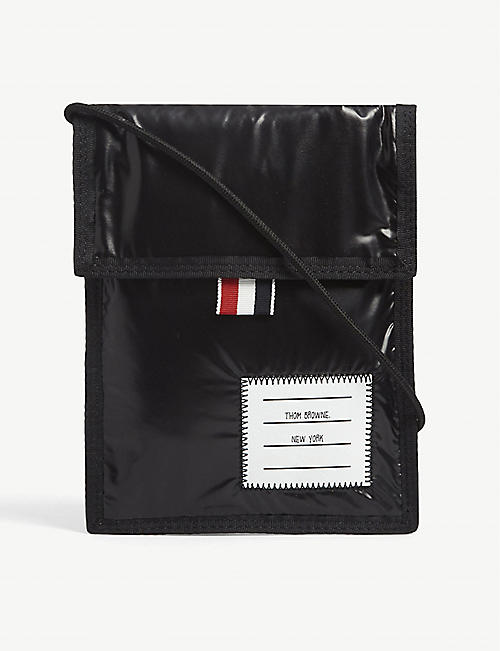 THOM BROWNE: Drawcord neck pouch