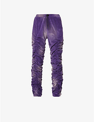 MJB - MARC JACQUES BURTON: Acid wash relaxed-fit velvet trousers