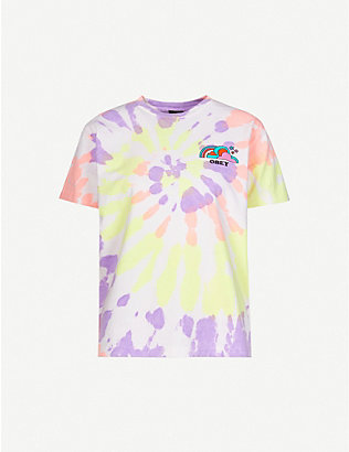 OBEY: Happy Land tie-dye cotton-jersey T-shirt
