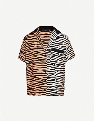 OBEY: Kitty tiger-print woven shirt