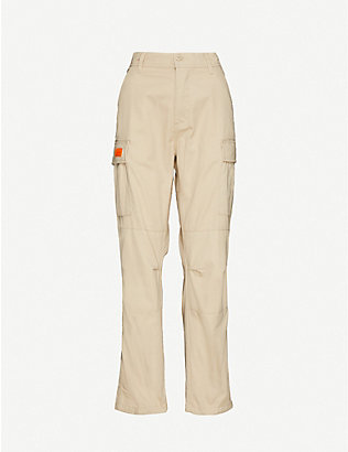 OBEY: Combat logo-embellished cotton-blend trousers