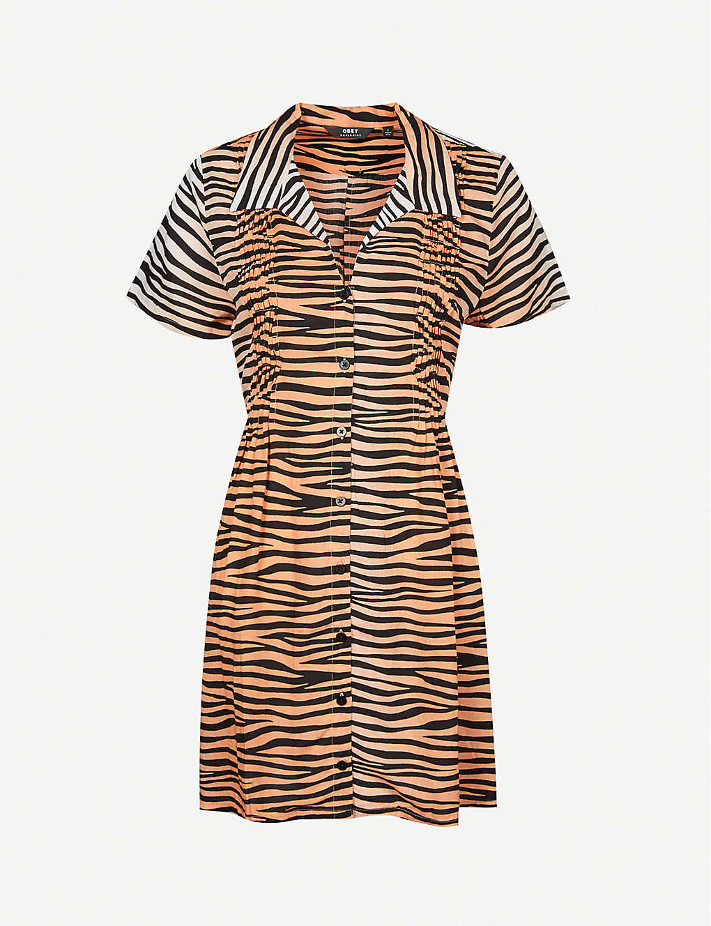 OBEY: Kitty tiger-print woven mini dress