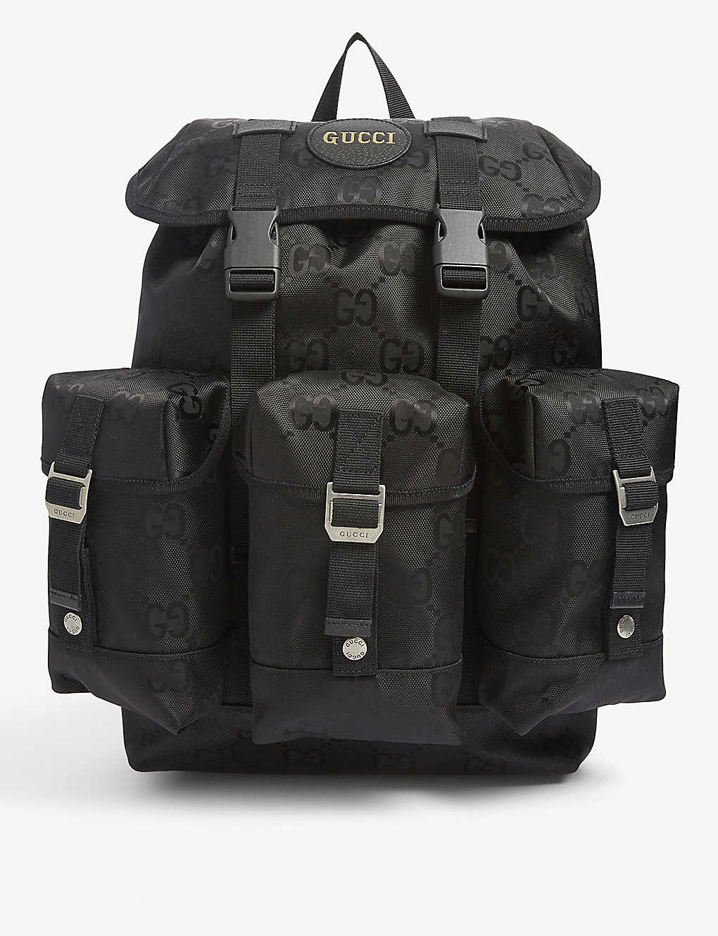GUCCI: Logo-print nylon backpack