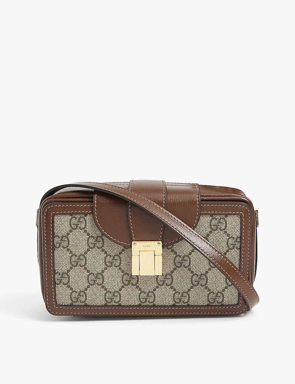 GUCCI: GG Supreme small coated-canvas cross-body bag