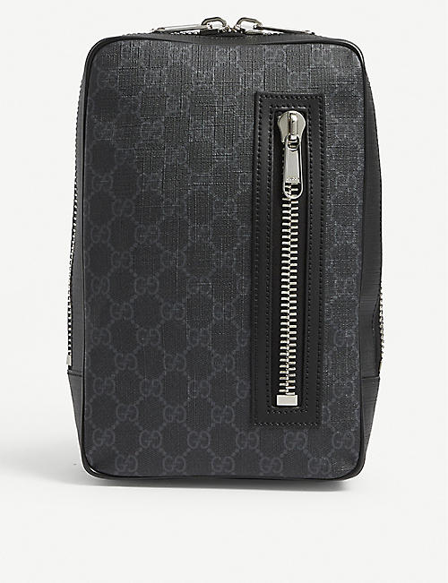 GUCCI: Logo-printed canvas cross-body bag