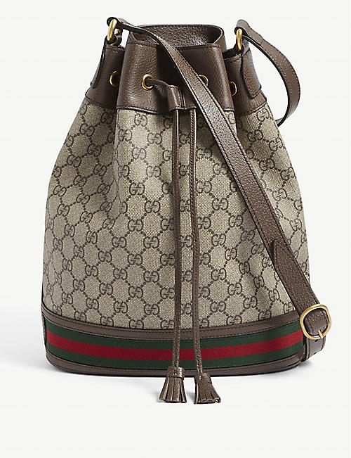 GUCCI: Ophidia leather bucket bag