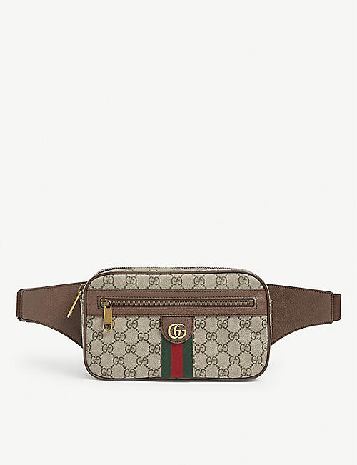 GUCCI: Ophidia GG Supreme canvas belt bag