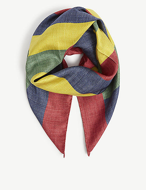 GUCCI: Striped silk scarf