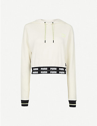 PUMA: PUMA x CENTRAL SAINT MARTINS cropped cotton-blend hoody
