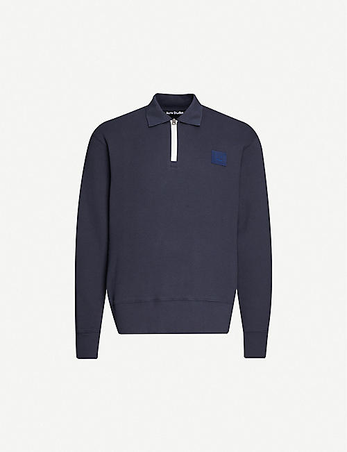 ACNE STUDIOS: Ferd brand-patch cotton-jersey jumper
