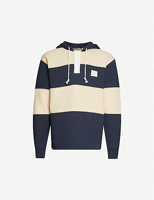 ACNE STUDIOS: Finten striped cotton-jersey hoody