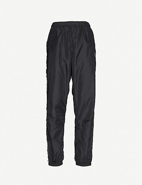 ACNE STUDIOS: Phoenix brand-trim shell jogging bottoms