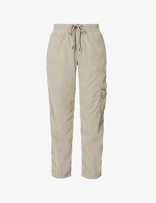 JAMES PERSE: Mixed Media relaxed-fit mid-rise cotton-corduroy trousers