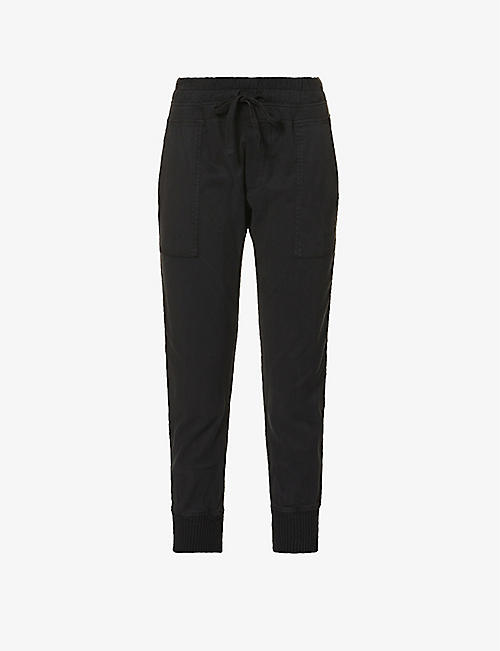 JAMES PERSE: Mixed Media relaxed-fit mid-rise cotton trousers