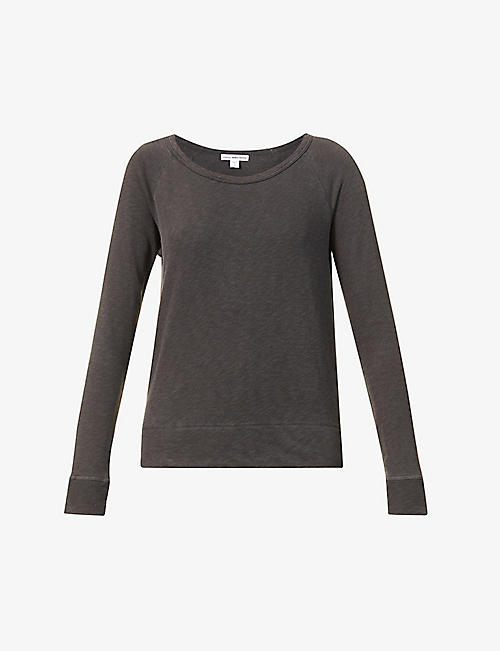 JAMES PERSE: Scoop-neck cotton jumper