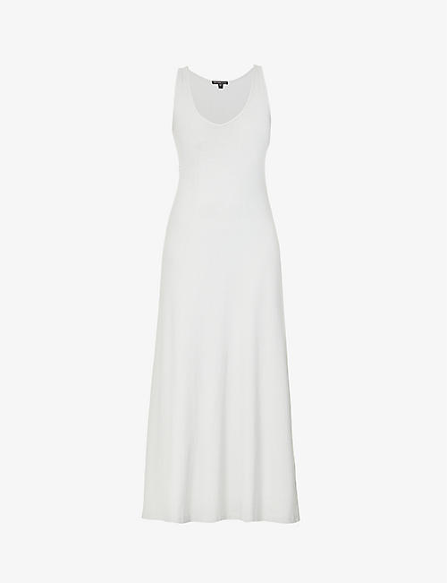 JAMES PERSE: Ribbed stretch-cotton maxi dress