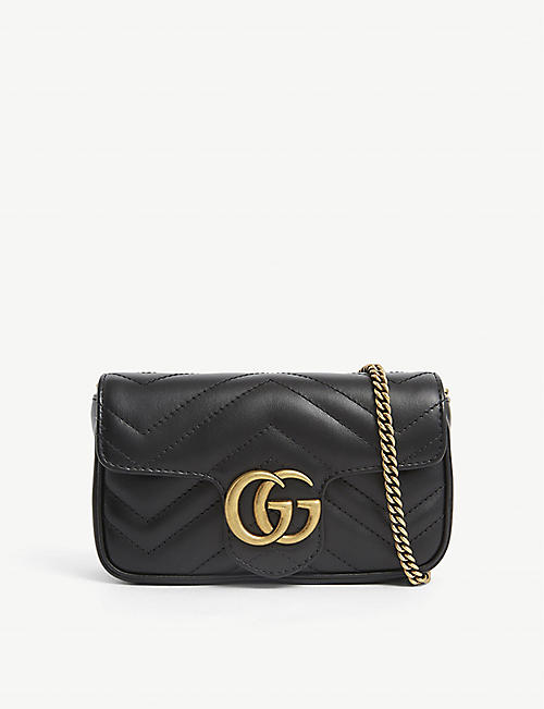 GUCCI: Marmont Super Mini leather shoulder bag
