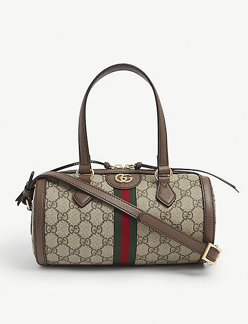 GUCCI: Ophidia GG small Boston canvas shoulder bag