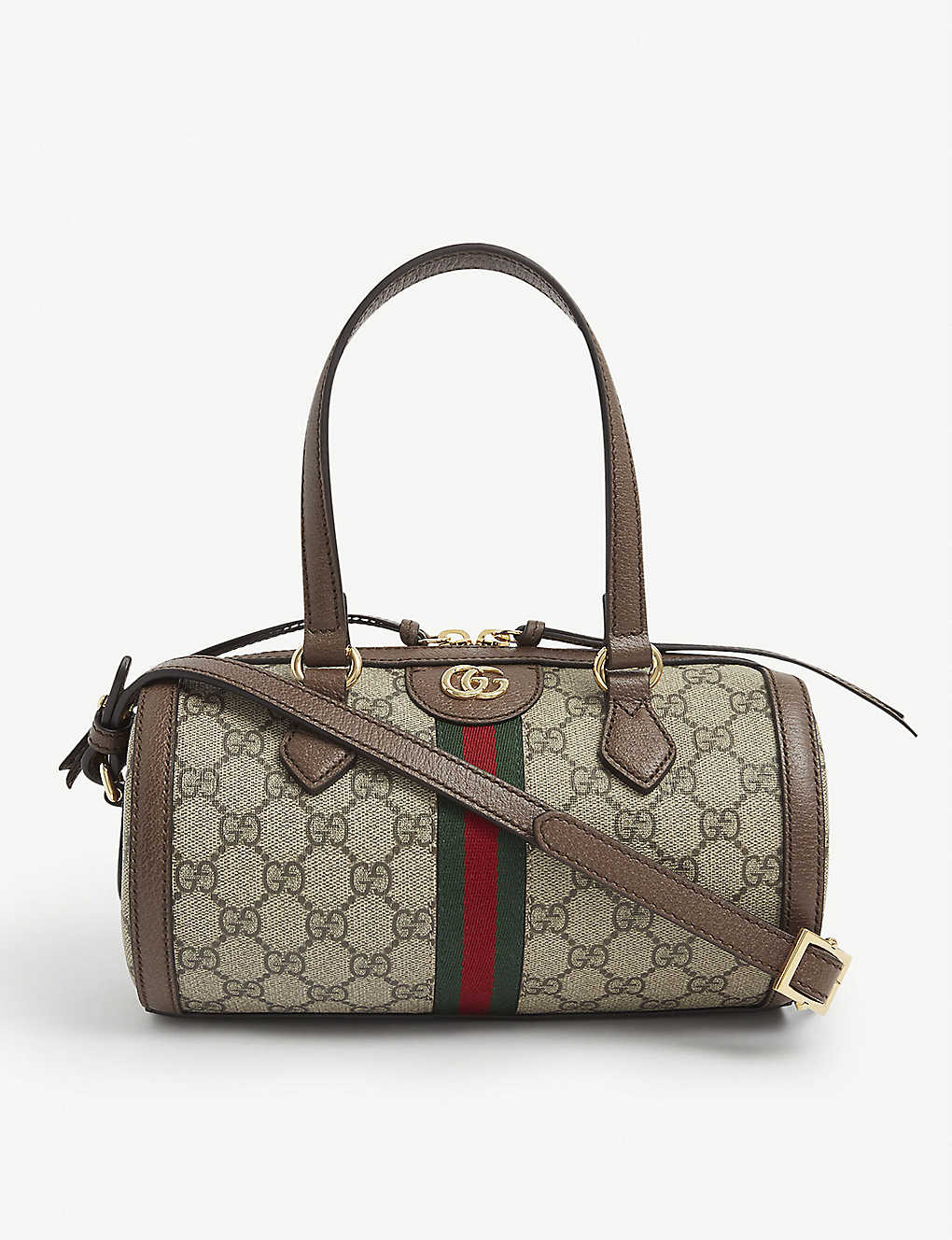 Gucci OPHIDIA GG SMALL BOSTON CANVAS SHOULDER BAG