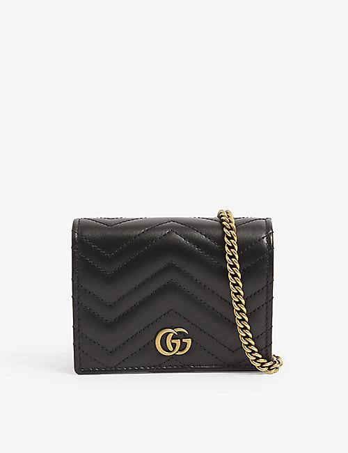 GUCCI: GG Marmont leather purse