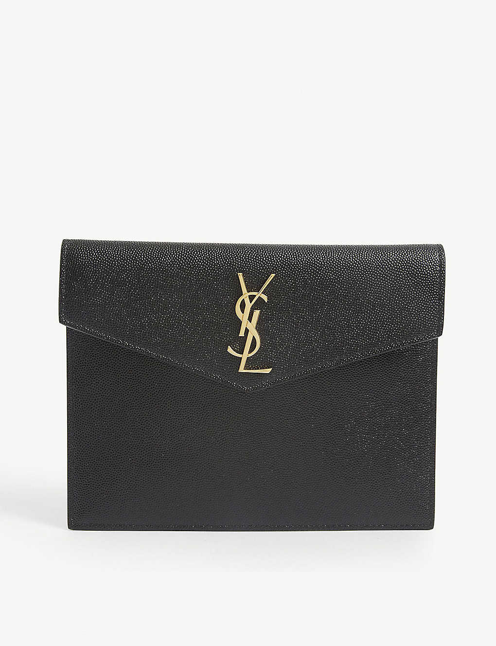 SAINT LAURENT: Uptown Baby monogram leather envelope pouch