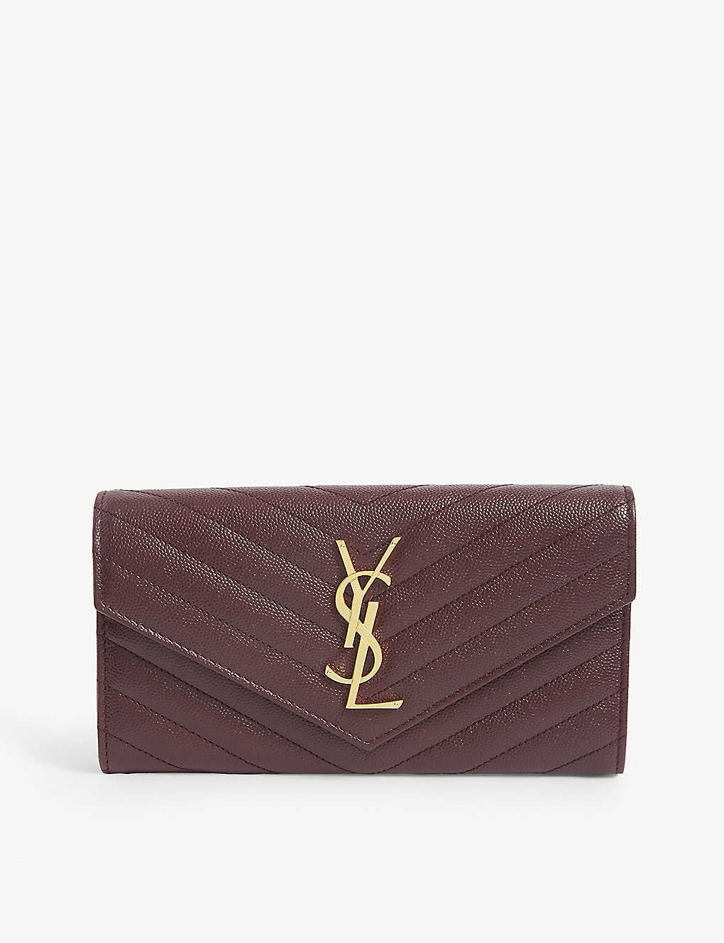 SAINT LAURENT: Monogrammed quilted leather wallet
