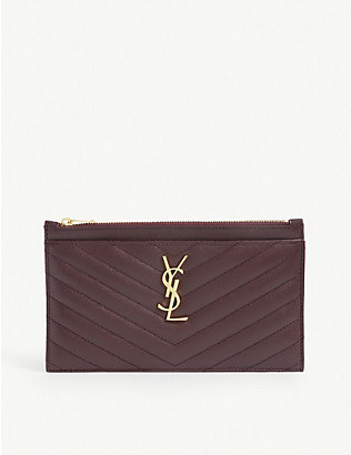 SAINT LAURENT: Monogram quilted leather pouch