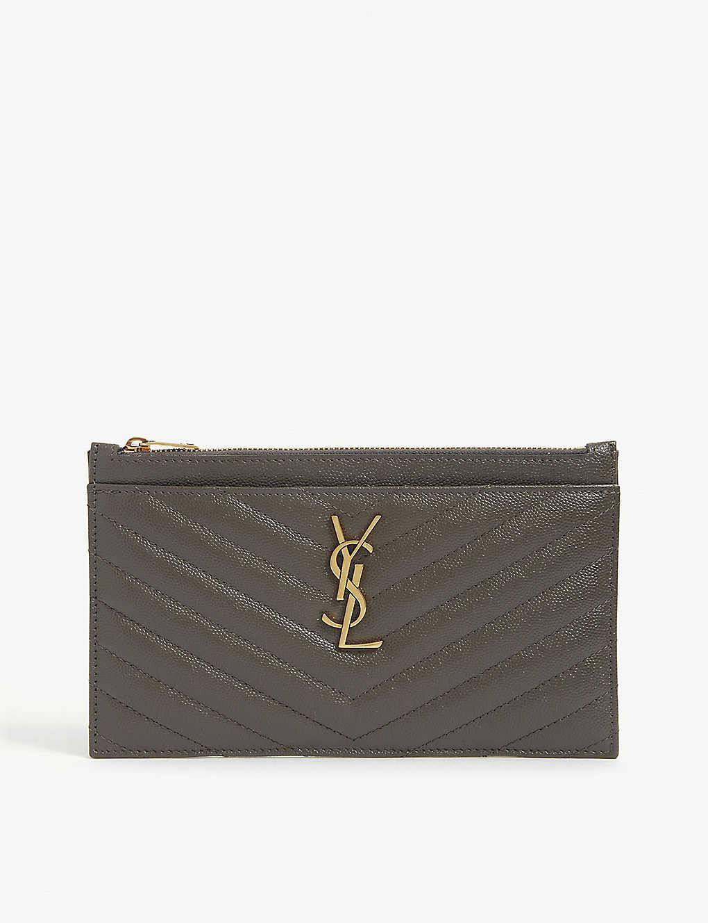 SAINT LAURENT: Monogram quilted leather pouch