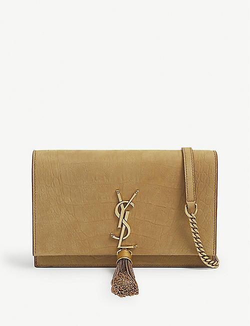 SAINT LAURENT: Kate tassel embellished wallet on chain