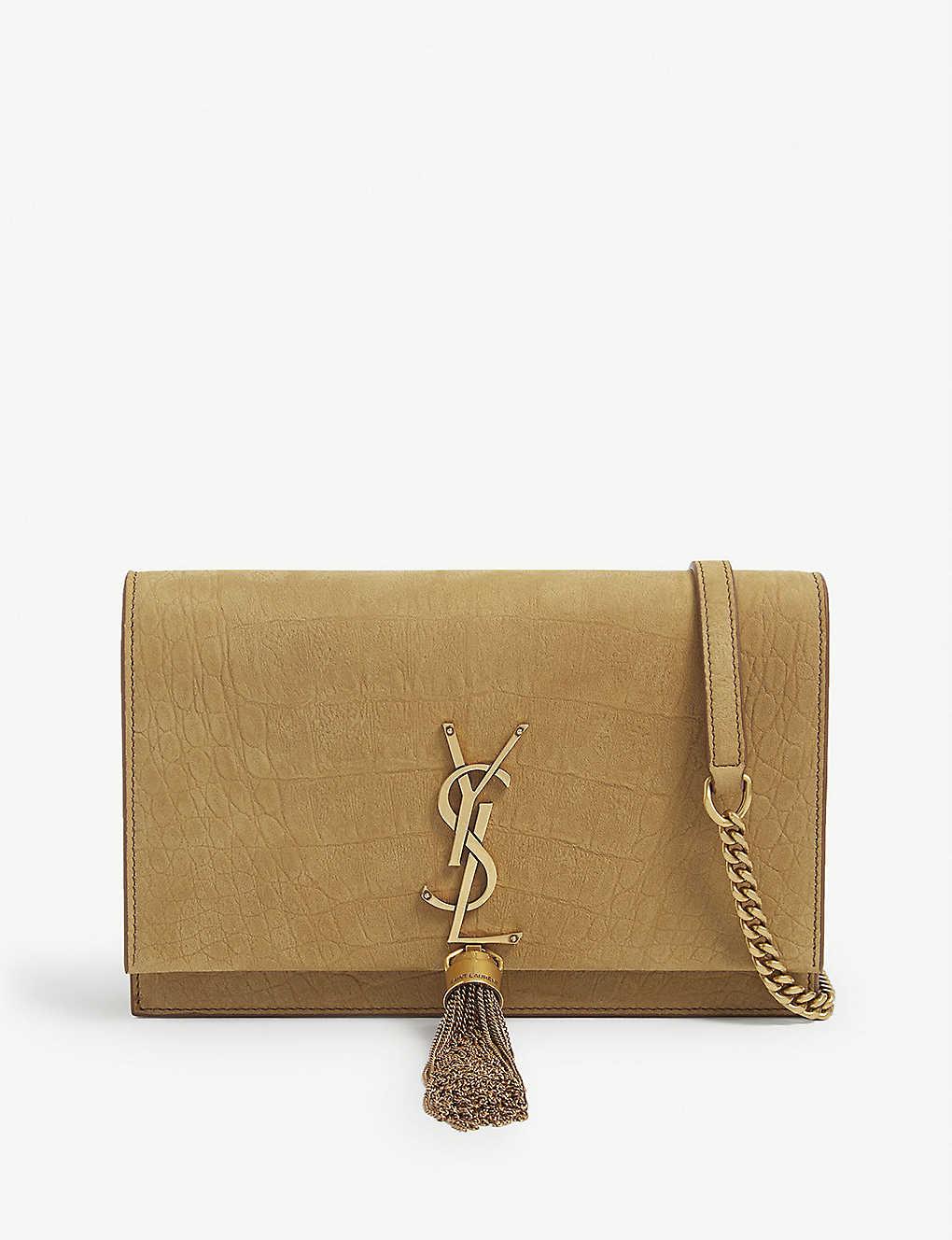 SAINT LAURENT: Kate tassel embellished wallet on chain