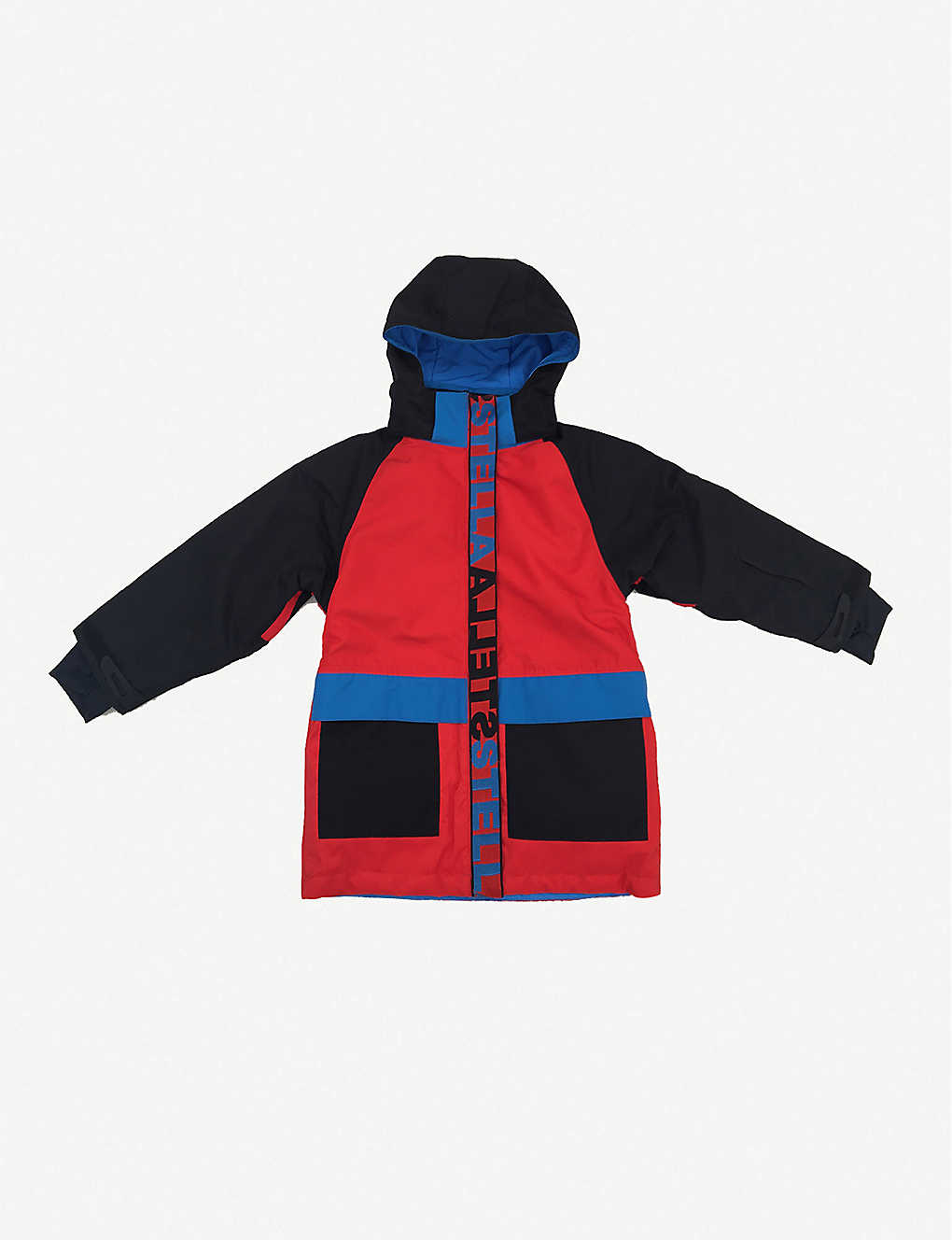 STELLA MCCARTNEY: Logo-print shell hooded jacket 4-14 years
