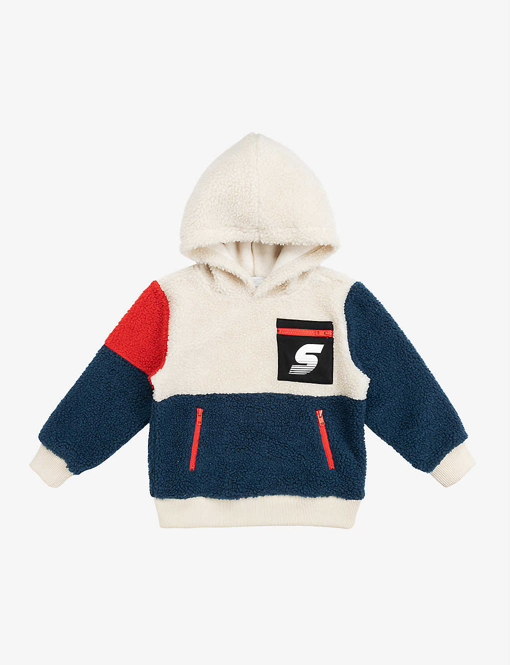 STELLA MCCARTNEY: Teddy logo-print woven hoody 4-14 years