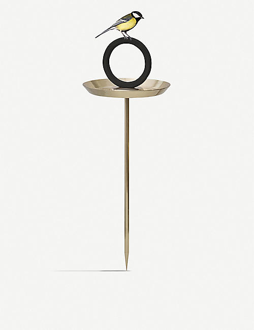 EVA SOLO: Round Up gold-plated ceramic bird bath 60cm
