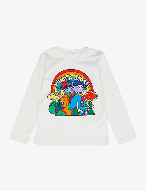 STELLA MCCARTNEY: Slogan organic cotton-jersey T-shirt 3-36 months