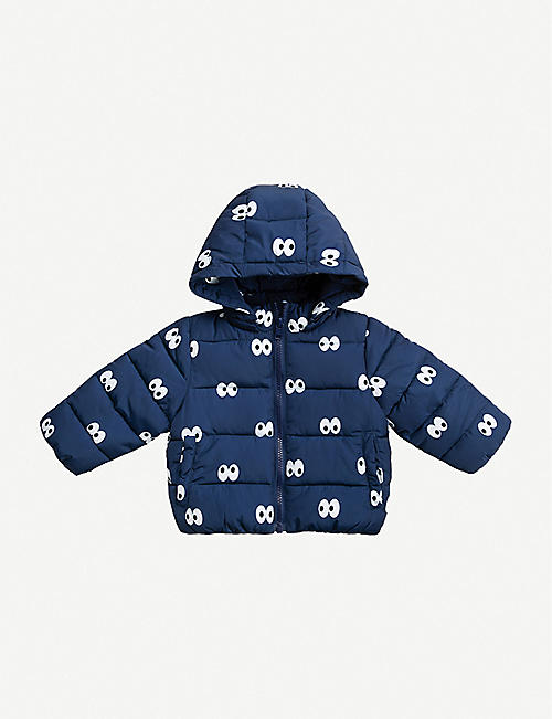 STELLA MCCARTNEY: Cartoon eye-print puffer jacket 6-36 months
