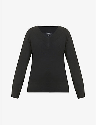 THEORY: V-neck cashmere jumper