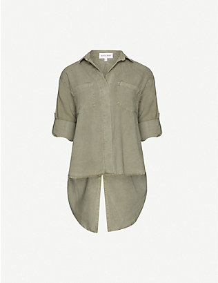 BELLA DAHL: Split-back woven shirt
